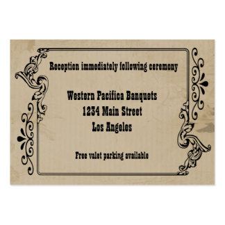 Old West Inspired Reception Card Large Business Cards (Pack Of 100)