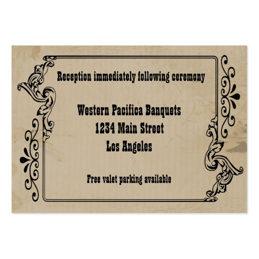 Western business card templates page4 bizcardstudio western old west inspired reception card business card templates colourmoves