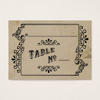 Old West Inspired Table Place Card