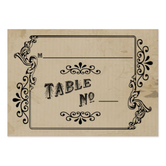 Old West Inspired Table Place Card Business Card Templates