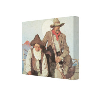 Old West Pay Stagecoach 1909 Wrapped Canvas