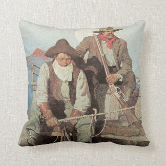 Old West Pay Stagecoach American MoJo Pillow