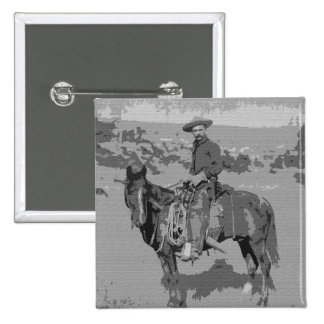 Old West Pinback Button