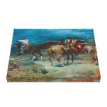Old West Pony Express 1922  3D Wrapped Canvas Gallery Wrapped Canvas