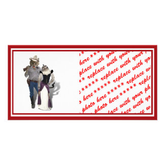 Old West 'Purrfect'  Cat Couple Card