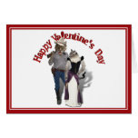 Old West 'Purrfect'  Cat Couple Valentine Greeting Card