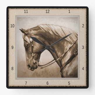 Quarter Horse Square Wall Clock