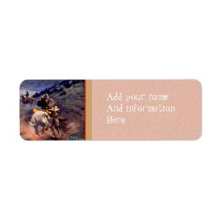 Old West Return Address Label