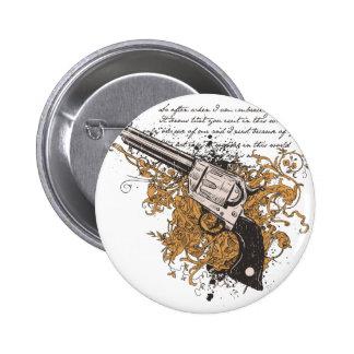 Old West Revolver 2 Inch Round Button