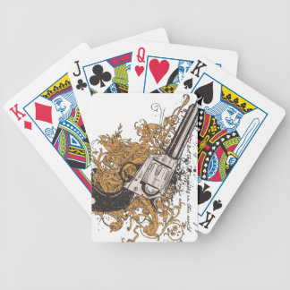 Old West Revolver Bicycle Playing Cards