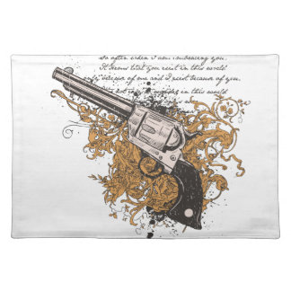Old West Revolver Placemat