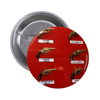 Old West Six-shooters Pinback Button
