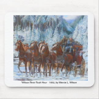 Old West Stagecoach and Team Mousepad