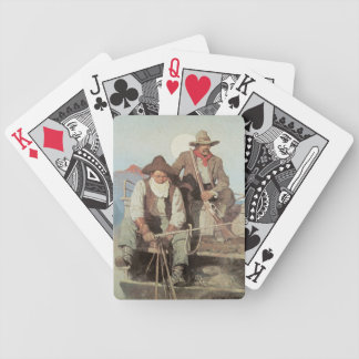Old West Stagecoach Cowboys Playing Cards
