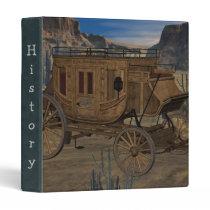 Old West Stagecoach Notebook Binder