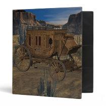 Old West Theme Stagecoach Notebook Binder