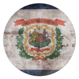 Old West Virginia Flag Dinner Plate