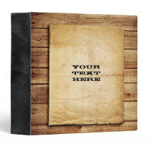 Old West Wood 3 Ring Binder