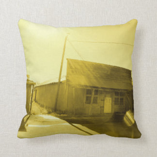 Old Western Building Throw Pillow