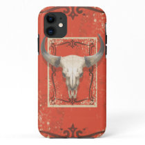 Old Western Cow Skull iPhone 11 Case