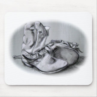 OLD WESTERN (COWBOY) BOOTS IN PENCIL MOUSE PAD