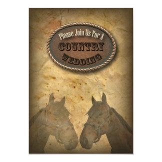 """old Western Cowboy Country Wedding Invitation 5"""" X 7"""" Invitation Card"""