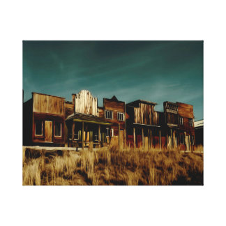 Old Western Ghost Town. Canvas Print