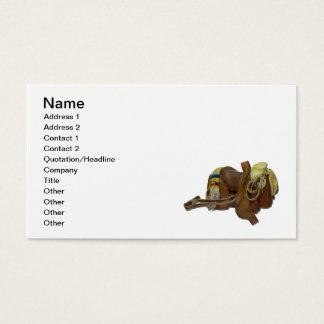 Old Western Saddle Business Card