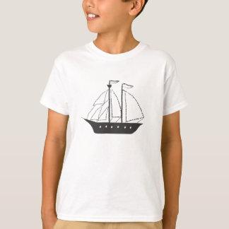 Old Whaleship Schooner Masted Ship T-Shirt