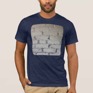 Old white brick wall with nooks and crannies T-Shirt