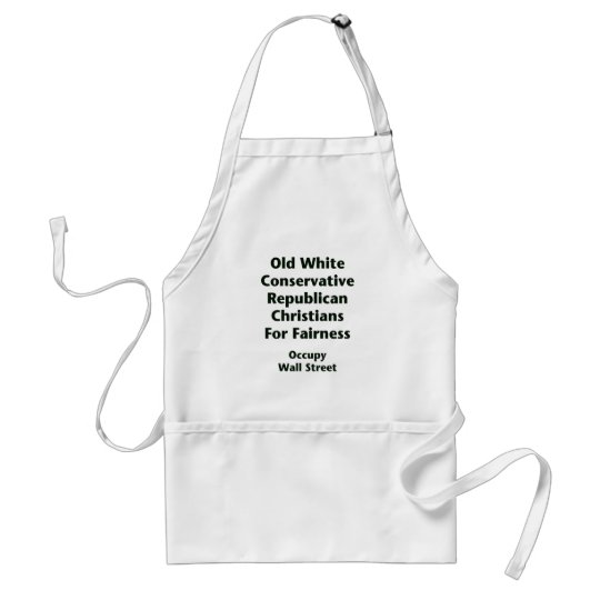 Old White Conservative Republicans For Fairness Adult Apron