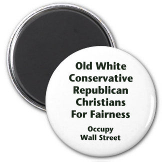 Old White Conservative Republicans For Fairness Magnet