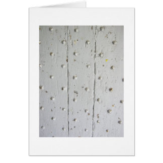 Old White French Door With Studs Card