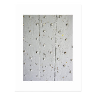 Old White French Door With Studs Postcard