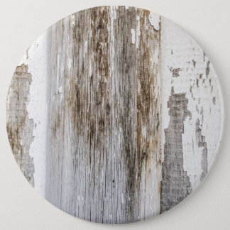 Old white paint wooden wall texture pinback button