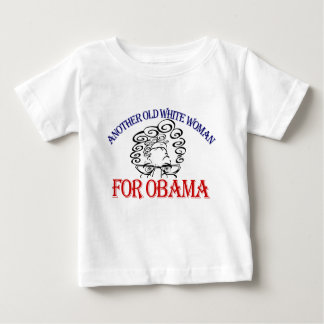 old white woman for obama baby T-Shirt