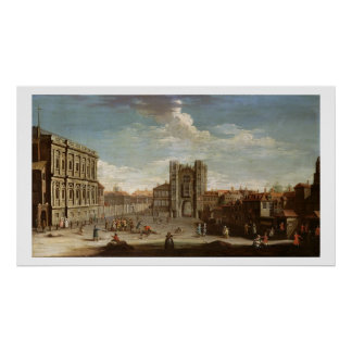 Old Whitehall and the Privy Garden Poster