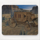 Old Wild West Stagecoach Mousepad