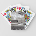 Old Windmill and Barn in Field Playing Cards Bicycle Playing Cards