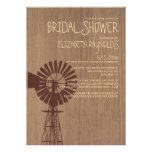 Old Windmill Bridal Shower Invitations Custom Invitation