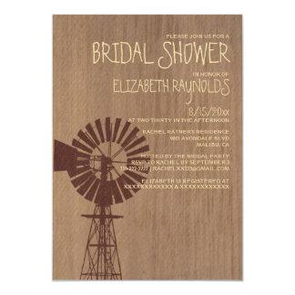 Old Windmill Bridal Shower Invitations
