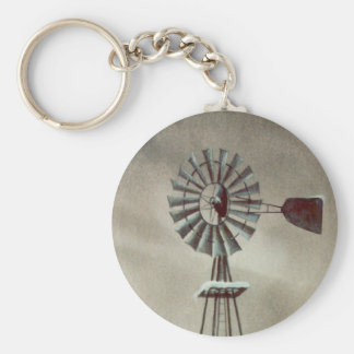 OLD WINDMILL by SHARON SHARPE Keychain