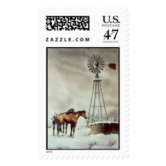 OLD WINDMILL by SHARON SHARPE Postage