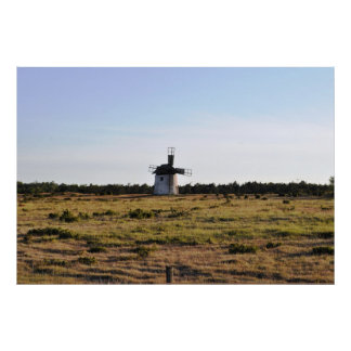 Old Windmill Gotland Island Sweden Poster