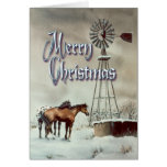 OLD WINDMILL MERRY CHRISTMAS by SHARON SHARPE Card