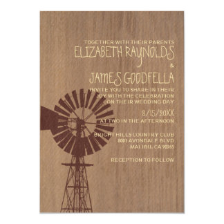 Old Windmill Wedding Invitations