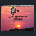 """Old Windmills : Oil Color Paintings Calendar<br><div class=""""desc"""">This is a 12 month calender of oil painted old windmills. Each windmill is different for a different month. All are old windmills and painted very colorfully. peacefully painted pictures for each month.  Also in every picture our birds flying to or away.</div>"""