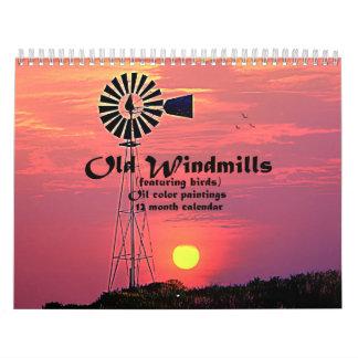 Old Windmills : Oil Color Paintings Calendar