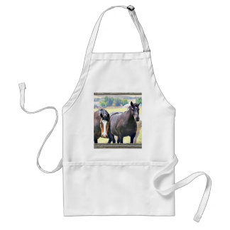 Old window horses 4 adult apron
