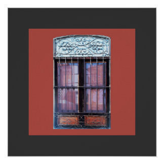 Old Window in Barranco Poster